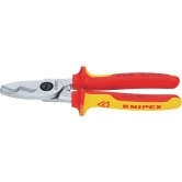 KNIPEX Cable shears with twin cutting edge