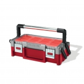 "KETER Tool box 18"" with 2 organizers Cantilever"